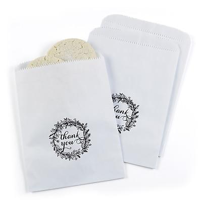 Hortense B. Hewitt Rustic Wreath Treat Bags, White, 25 Pack (42272ST)