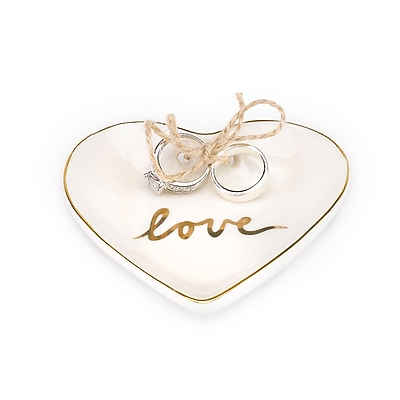 Hortense B. Hewitt Gold Love Heart Porcelain Ring Bowl (80835ST)