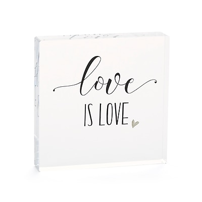 Hortense B. Hewitt Love is Love Acrylic Cake Top (55121ST)