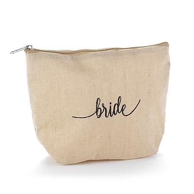 Hortense B. Hewitt Bride Natural Jute Cosmetic Bag (55154ST)