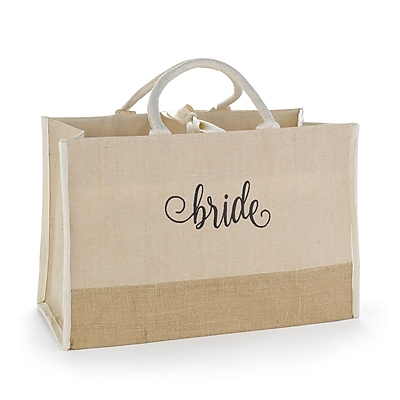 Hortense B. Hewitt Bride Natural Jute Tote Bag (55170ST)