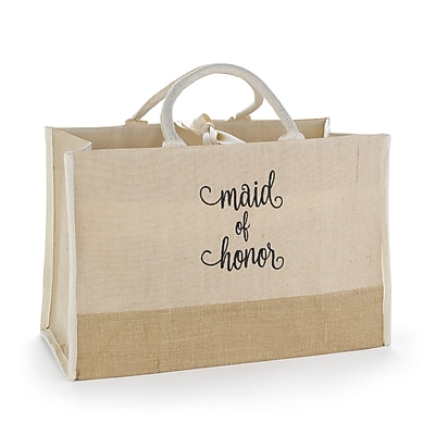 Hortense B. Hewitt Maid of Honor Natural Jute Tote Bag (55172ST)