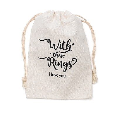Hortense B. Hewitt With These Rings Wedding Ring Bag (54826ST)