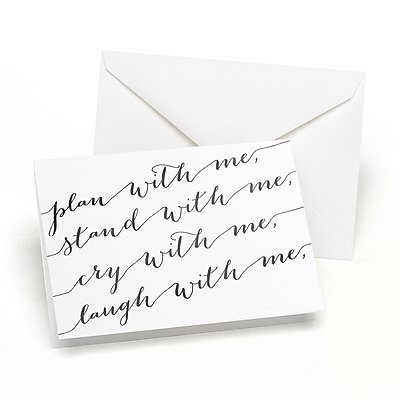 Hortense B. Hewitt Plan with Me Wedding Day Card (54830ST)