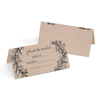 Hortense B. Hewitt Rustic Wreath Place Card, 25 Pack (54870ST)