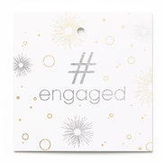 Hortense B. Hewitt #engaged Favor Tag, 24 Pack (54872ST)