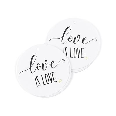 Hortense B. Hewitt Love is Love Favor Tag, 25 Pack (55129ST)