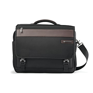 Samsonite Kombi Laptop Briefcase, Brown/Black Nylon (92314-1051)