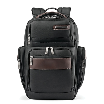 Samsonite Kombi 4 Square Backpack Black/Brown Ballistic Nylon (92312-1051)