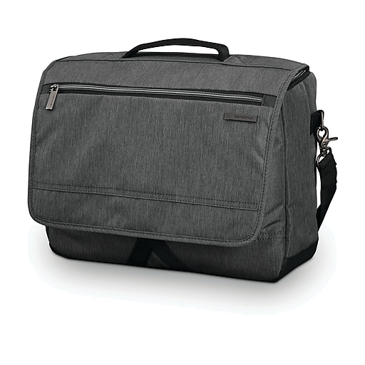 Samsonite Modern Utility Messenger Bag, Charcoal Heather, Ripstop Polyester (89579-5794)