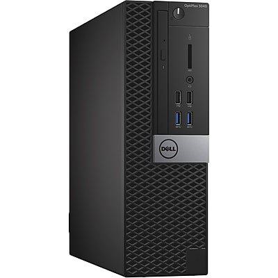Dell Optiplex 3040 Intel Core i3-6100 X2 3.7GHz 4GB 500GB Win10, Black (Certified Refurbished)