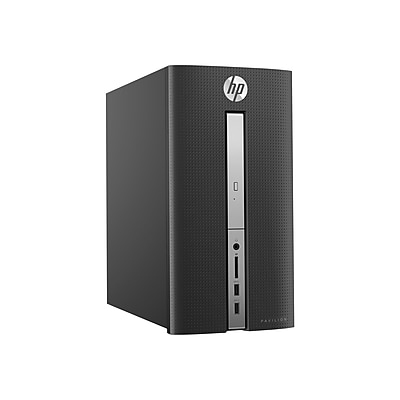 HP Pavilion 570-P020 Intel Core i5-7400 X4 3GHz 8GB 1TB Win10, Black (Certified Refurbished)