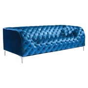 Zuo Providence 85'' Velvet Sofa Neon Blue Velvet 900282