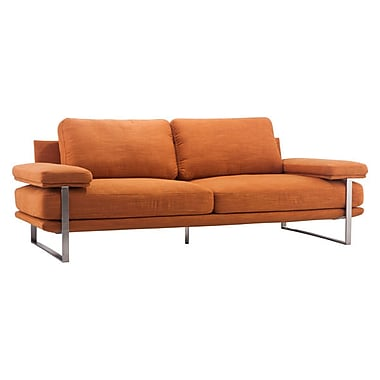 Zuo Jonkoping 86.6'' Polyblend Sofa Orange 900625