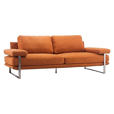 Zuo Jonkoping 86.6'' Polyblend Sofa Orange 900625
