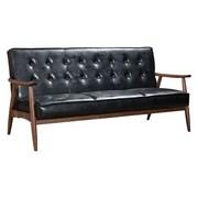 Zuo Rocky 68.5'' Leatherette Sofa Black 100531