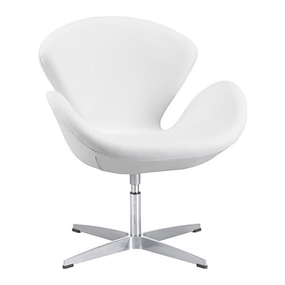Zuo Pori Leatherette Occasional Chair White 500314