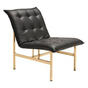 Zuo Slate Leatherette Chair Black & Gold 100636