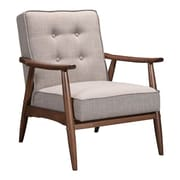 Zuo Rocky Polyester Arm Chair Putty 100530