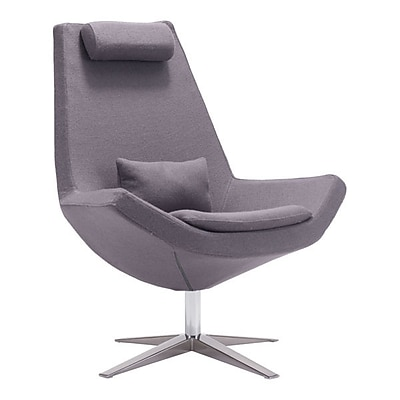 Zuo Bruges Polyblend Occasional Chair Charcoal Gray 500510