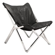 Zuo Sunk Leatherette Chair Black 100642