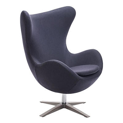 Zuo Skien Polyblend Occasional Chair Iron Gray 500301
