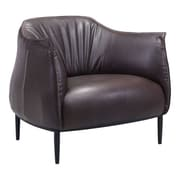 Zuo Julian Leatherette Occasional Chair Espresso 98085