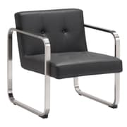 Zuo Varietal Leatherette Arm Chair Black 900641