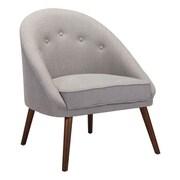 Zuo Carter Linen Blend Occasional Chair Light Gray 100728