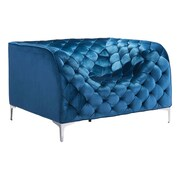 Zuo Providence Velvet Arm Chair Neon Blue Velvet 900279
