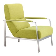 Zuo Jonkoping Polyblend Arm Chair Lime 500346