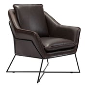 Zuo Lincoln Leatherette Lounge Chair Brown 100726