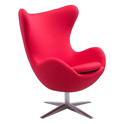 Zuo Skien Polyblend Occasional Chair Red 500302