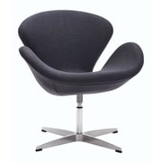 Zuo Pori Polyblend Occasional Chair Iron Gray 500310