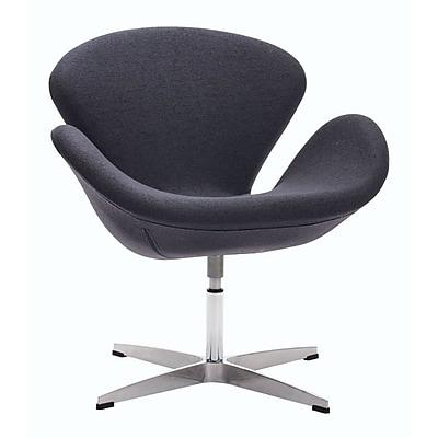 Zuo Pori Polyblend Occasional Chair Iron Gray 500310