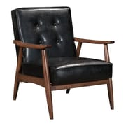 Zuo Rocky Leatherette Arm Chair Black 100528