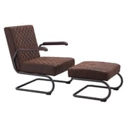 Zuo Father Leatherette Lounge Chair Vintage Brown 100406