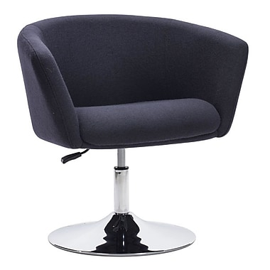Zuo Umea Polyblend Occasional Chair Iron Gray 500341