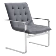 Zuo Solo Leatherette Occasional Chair Gray (100276)