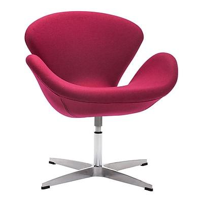 Zuo Pori Polyblend Occasional Chair Carnelian Red 500309