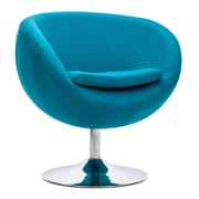 Zuo Lund Polyblend Occasional Chair Island Blue 500322