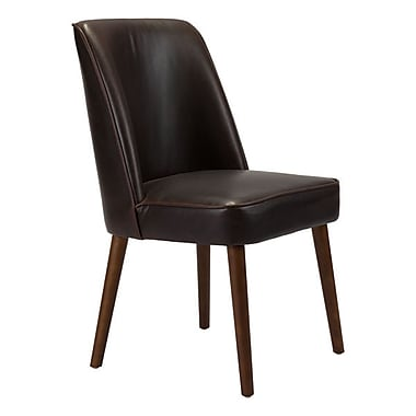 Zuo Kennedy Leatherette Dining Chair Brown Pack of 2 100721