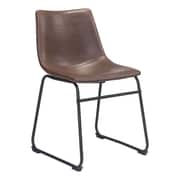 Zuo Smart Leatherette Dining Chair Vintage Espresso 100505