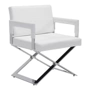 Zuo Yes Leatherette Dining Chair White 100383