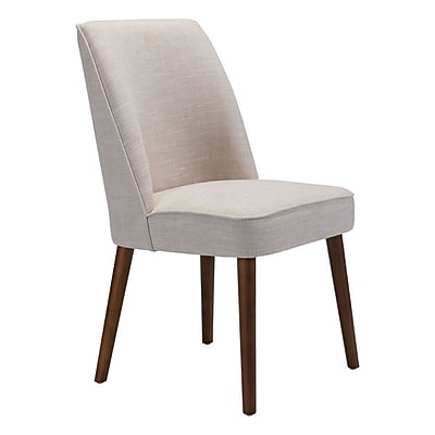 Zuo Kennedy Linen Blend Dining Chair Beige Pack of 2 100720