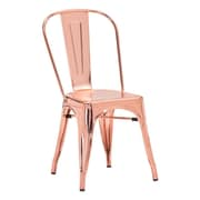 Zuo Elio Steel Dining Chair Rose Gold Pack of 2 108061