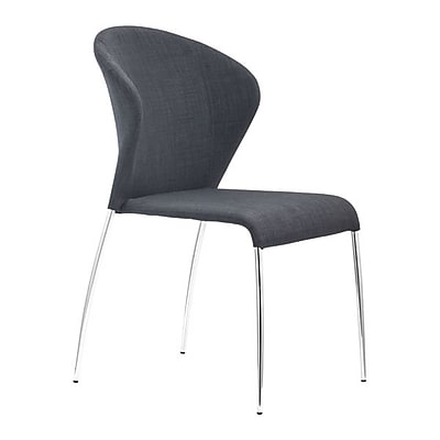 Zuo Oulu Polyblend Dining Chair Graphite Pack of 4 100042