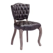 Zuo Leavenworth Leatherette Dining Chair Brown Pack of 2 98383