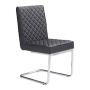 Zuo Quilt Leatherette Armless Dining Chair Black Pack of 2 100187