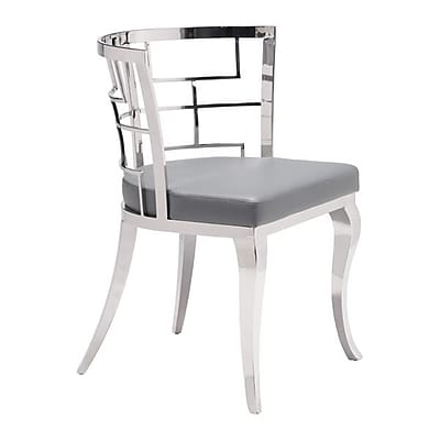 Zuo Quince Leatherette Dining Chair Gray Pack of 2 100333